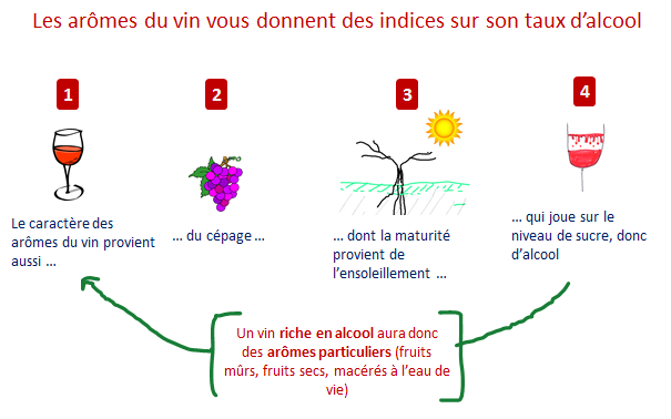 aromes vins taux alcool